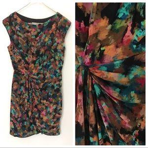 Shoshanna | Stunning Painted Multicolor Dress | 0
